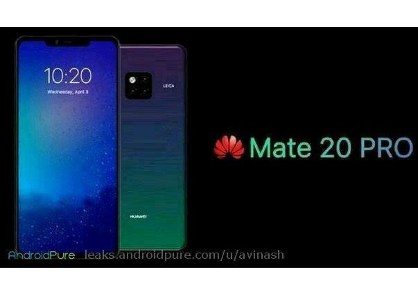 Huawei Mate 20 Pro rendu presse