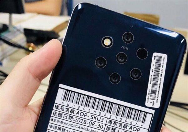 Nokia 9 une caméra avec 5 capteurs