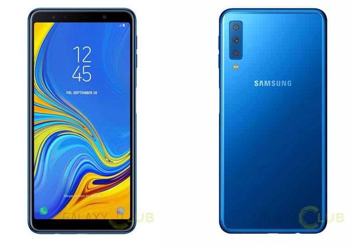 SAmsung Galaxy A7 (2018) fuites rendus presse