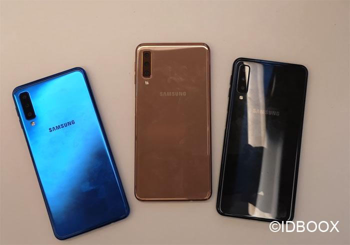 Samsung Galaxy A7 2018 prise en main en vidéo