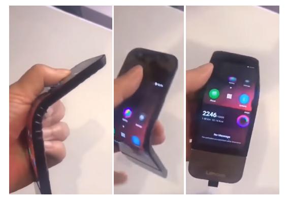 LEnovo son smartphone à écran pliable en vidéo