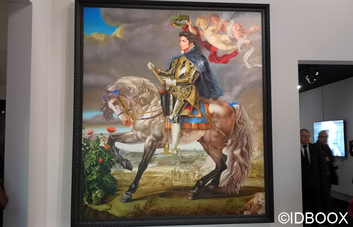 Expo Michael Jackson Grand Palais Equestrian-Portrait-of-King-Philip-II--de-Kehinde-Wiley-2010