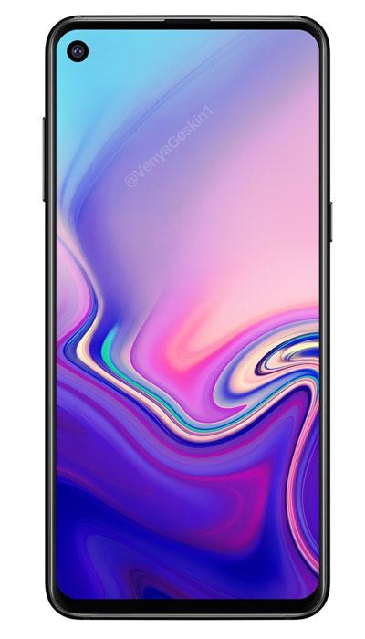Samsung Galaxy A8s rend u 3D