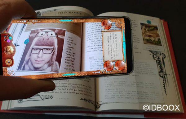 Livre Journal d'un Gardien de Fantômes avec de la réalité augmentée 01