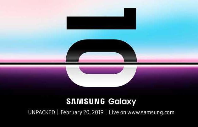 Samsung Galaxy S10 invitation 20 février