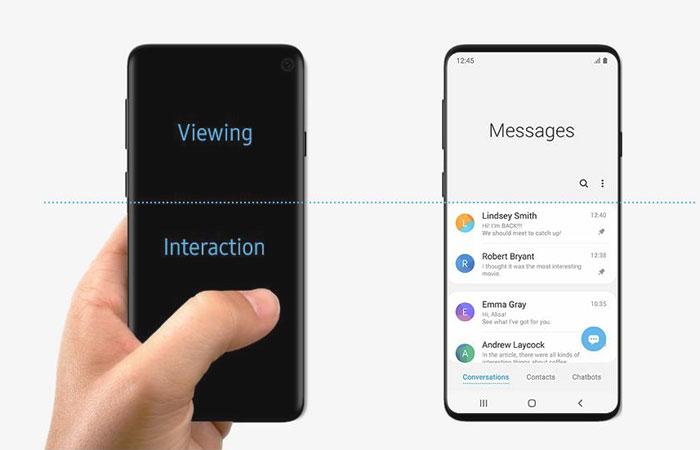 Galaxy S10 - Samsung montre son smartphone par erreur