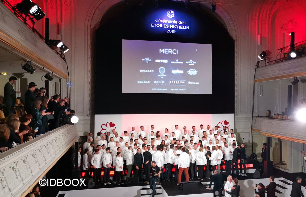 Guide Michelin 2019 cérémonie remise des étoiles