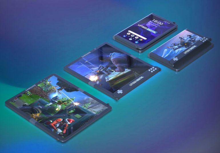 Samsung brevet smartphone écran pliable pour le gaming