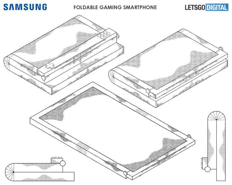 Samsung brevet smartphone écran pliable jeux vidéo