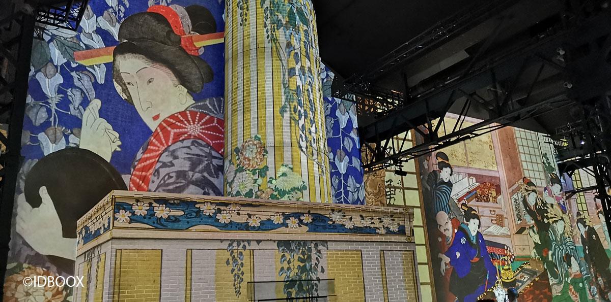 Expo Atelier des Lumières Le Japon rêvé
