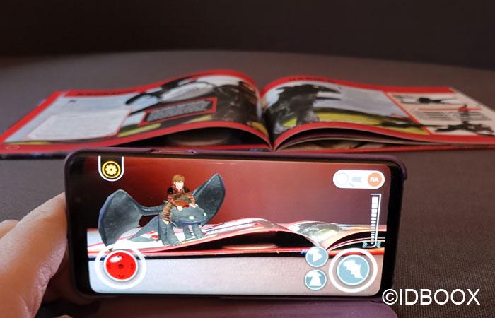Dragons 3 livre en réalité augmentée Krokmou