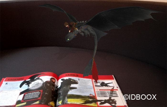 Dragons 3 livre en réalité augmentée krokmou en vol