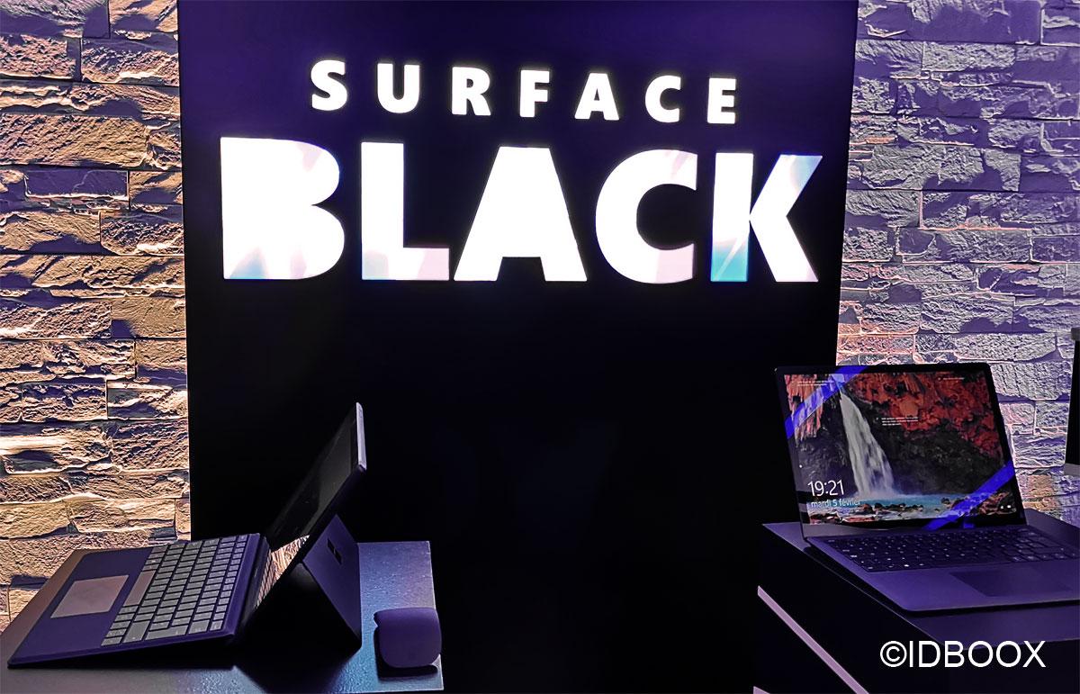 Les Surface Black de Microsoft passent au noir mat