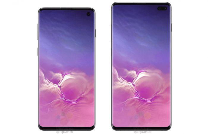 Samsung Galaxy S10 des visuels promotionnels