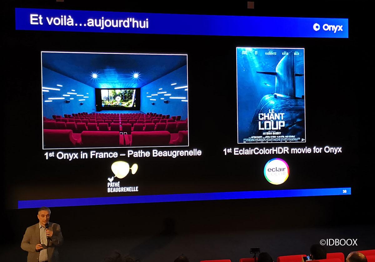 Samsung écran cinéma Onyx HDR à Beagrenelle
