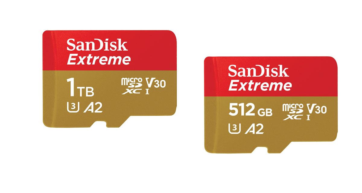 Western Digital carte microSD 1To