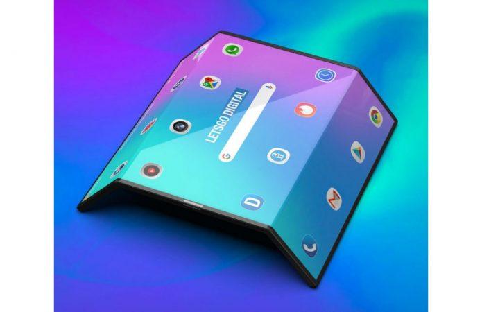 Xiaomi smartphone à écran pliable des rendus 3D
