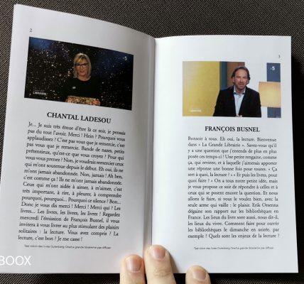 Gutenberg Printcast Livre imprimé à partir d'une vidéo