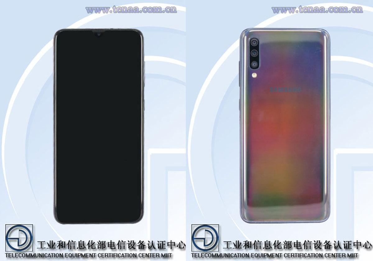 Les Galaxy A60 et Galaxy A70 passent par le TENAA