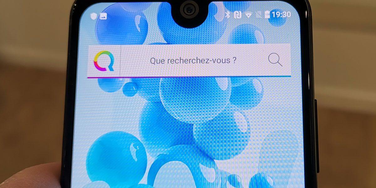 Wiko View 2 Pro avec Qwant le moteur de recherches