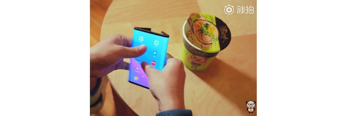 Xiaomi son smartphone pliable dans une nouvelle vidéo