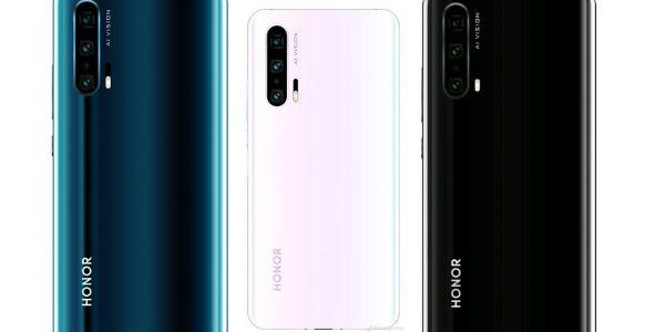 Honor 20 Pro rendus 3D trois couleurs