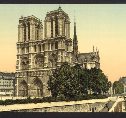 notre dame paris 4 cartes postales anciennes