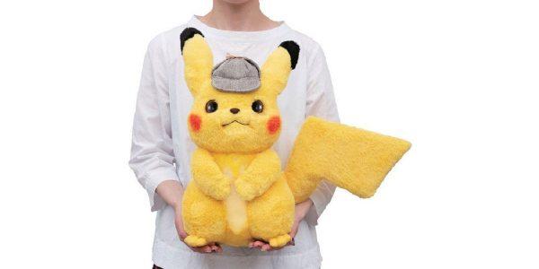 Détective Pikachu peluche taille réelle Bandai