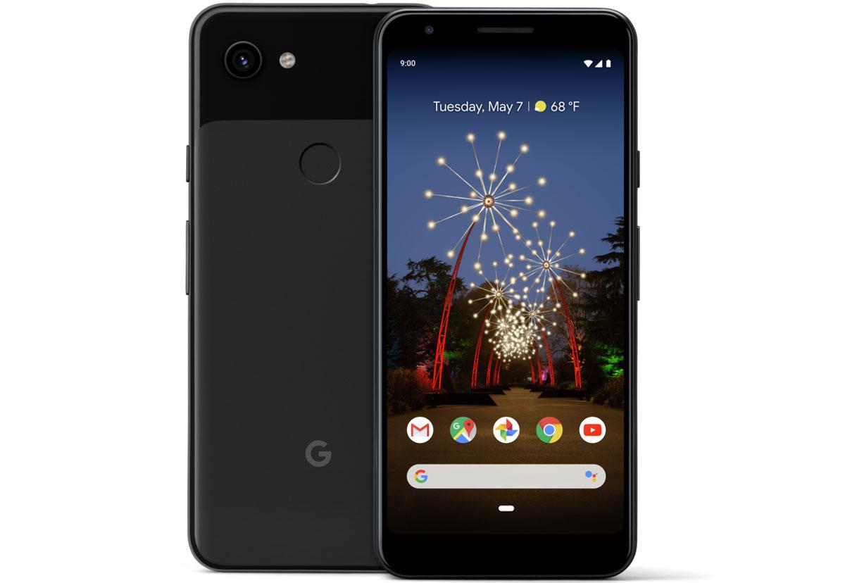 Le Google Pixel 4a en même temps que les Pixel 4