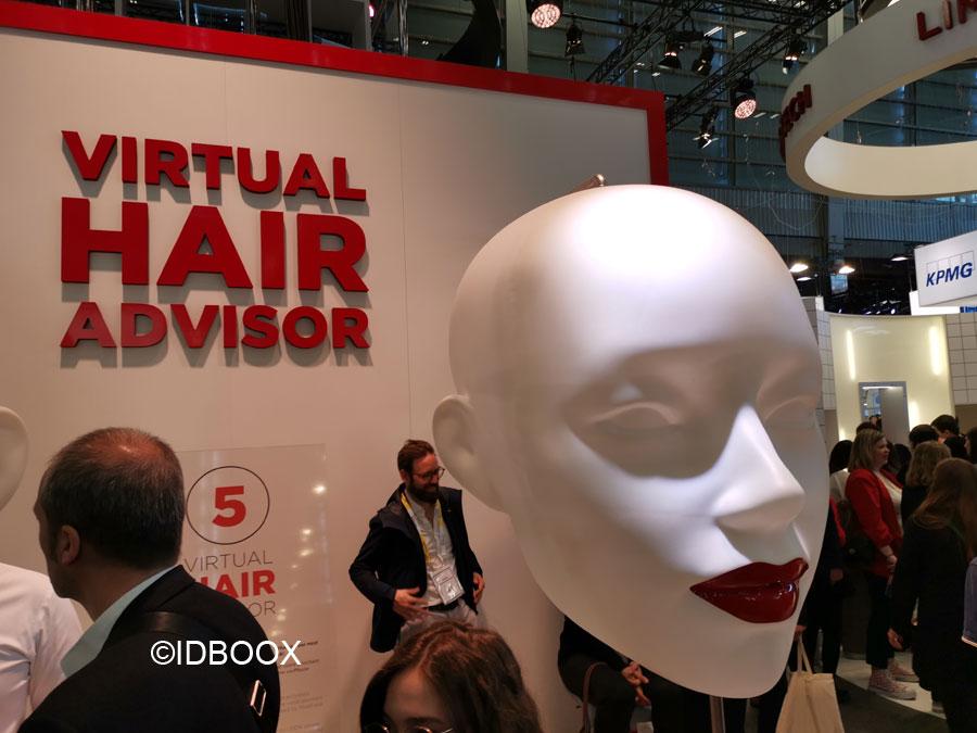Miroir virtuel réalité augmentée Loréal