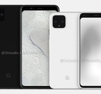 Le Google Pixel 4 un trou mystérieux à l'avant