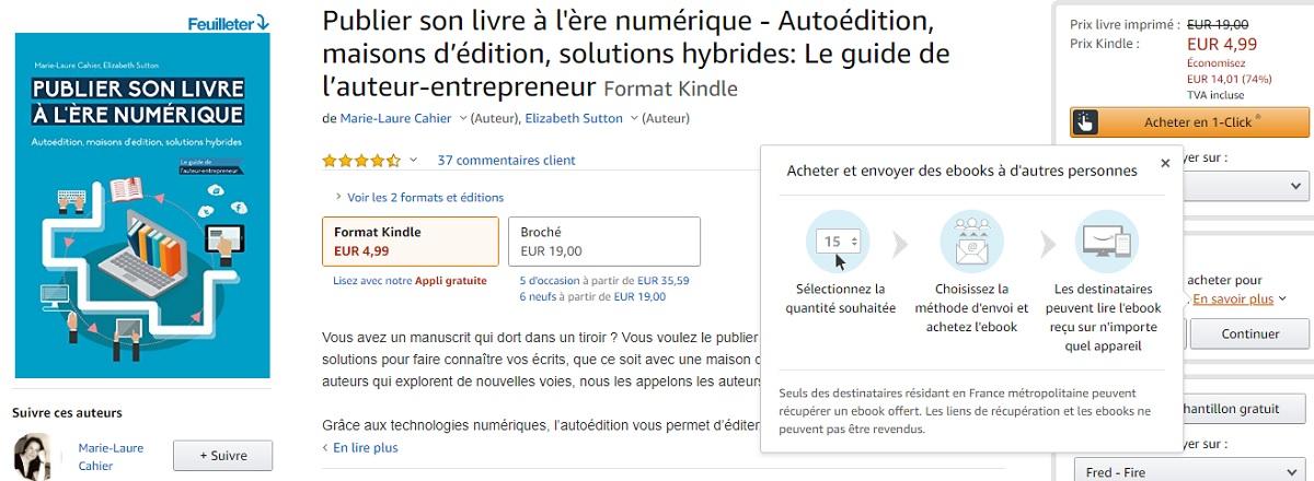 Amazon On Peut Enfin Offrir Un Livre Numerique Kindle Idboox