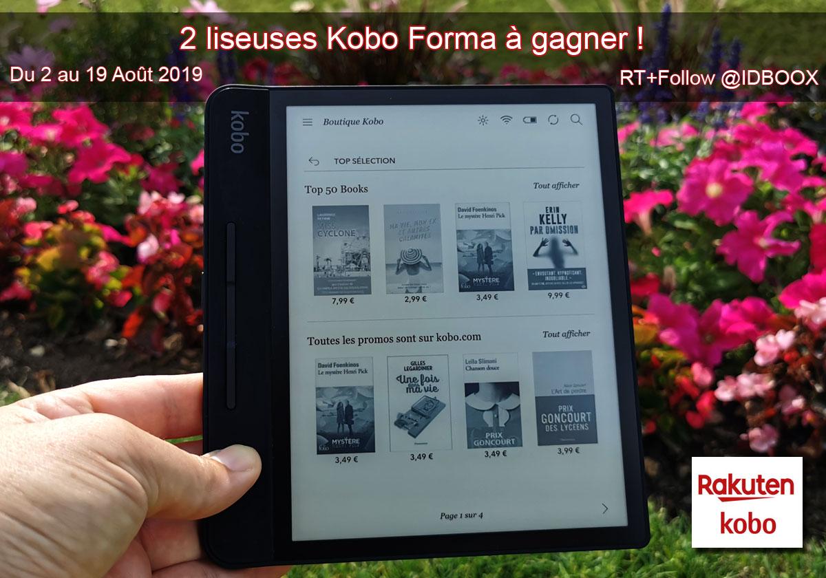 Deux liseuses Kobo Forma à gagner