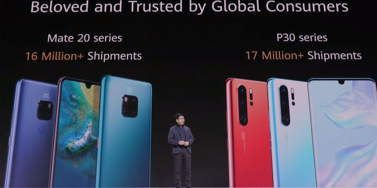 Huawei chiffres ventes des P30 et Mate 20