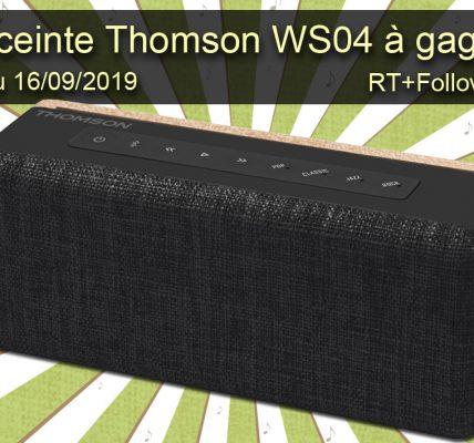 Jeu Enceinte audio Thomson WS04 à gagner