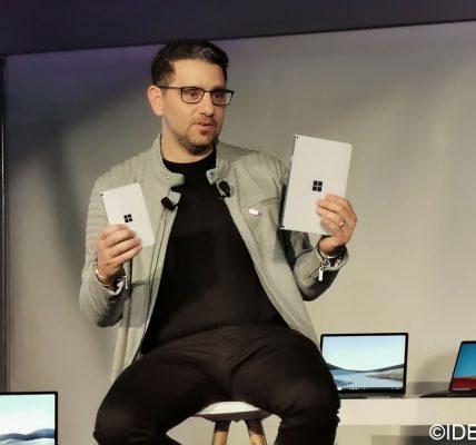 Microsoft Surface Duo et Surface Neo deux écran et une démo