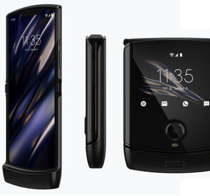 Le Motorola Razr officialisé avec son écran plaible
