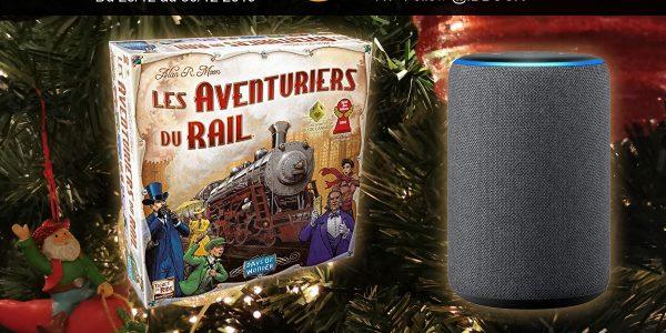 Le jeu Les Aventuriers du Rail et un enceinte connectée Amazon Echo à gagner