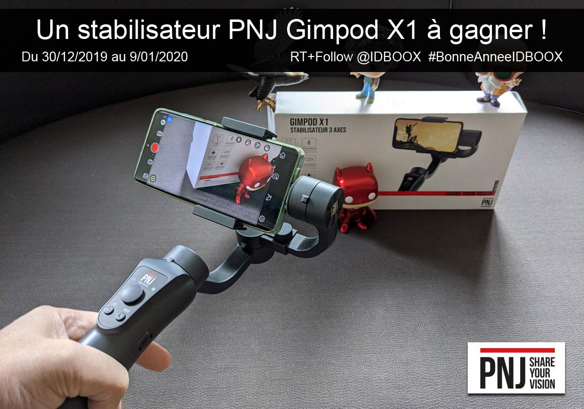 Jeu 1 stabilisateur pour smartphone PNJ Gimpod X1 à gagner