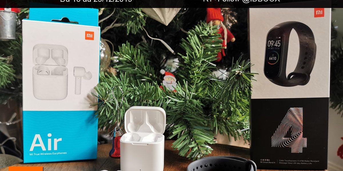 Jeu de Noël 1 Mi Smart Band 4 ou 1 Mi True Wireless Earphones à gagner