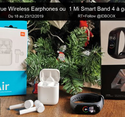 Jeu de Noël 1 Mi Smart Band 4 ou 1 Mi True Wireless Earphones à gagner