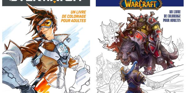 Livres de coloriages Overwatch et World of Warcraft