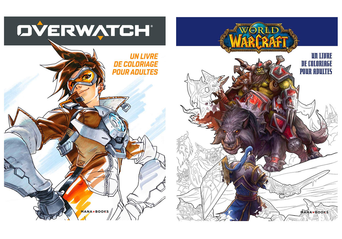 Livres de coloriages pour adultes Overwatch et World of Warcraft