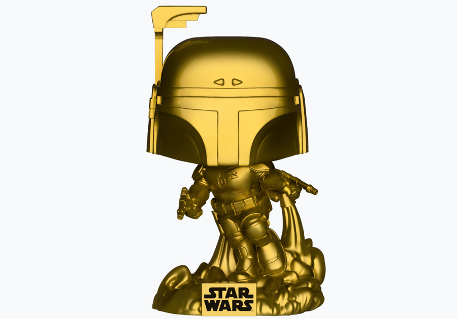 Star Wars figurines Funko Pop Gold