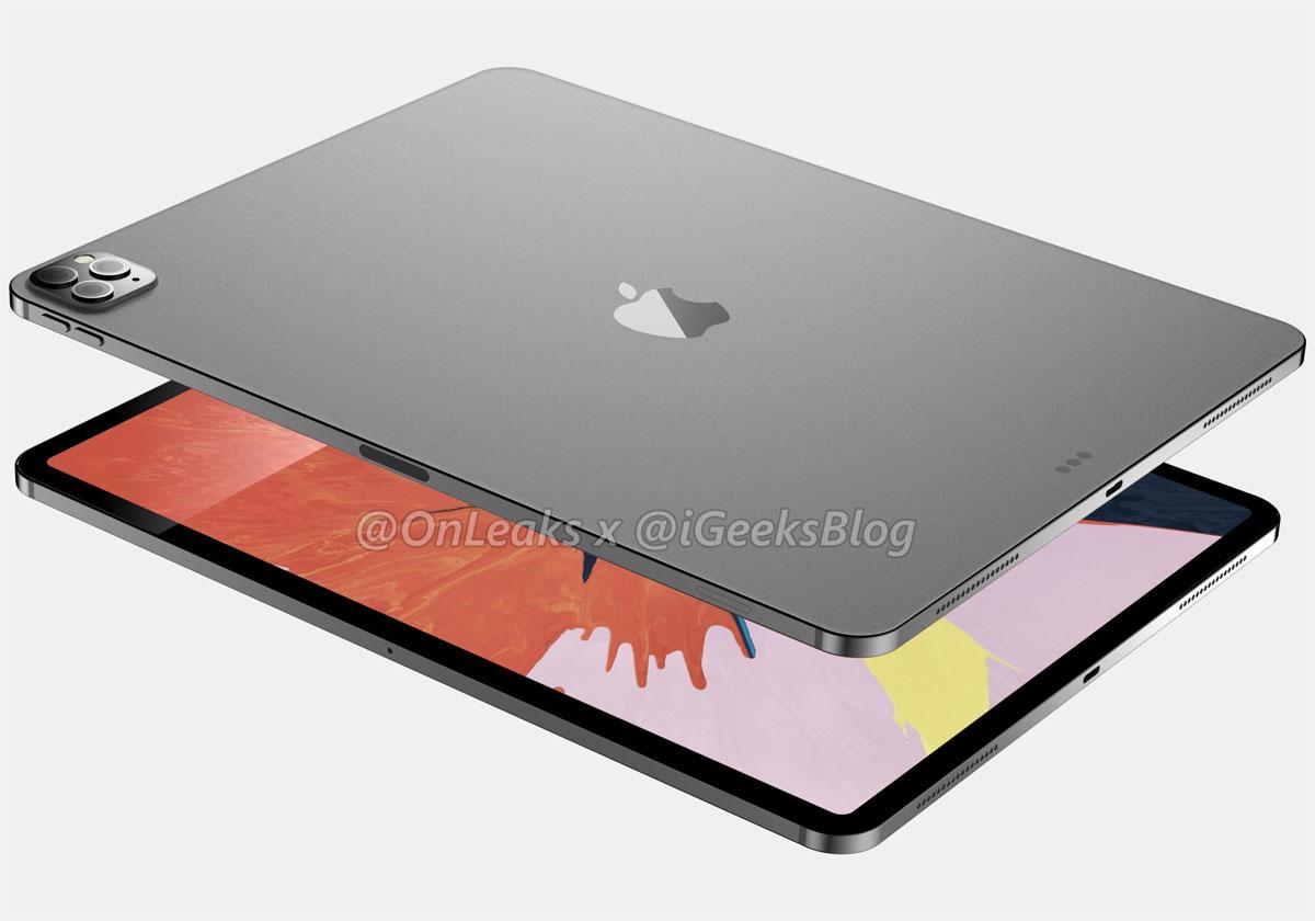 iPad Pro 2020 une série de visuels 3D