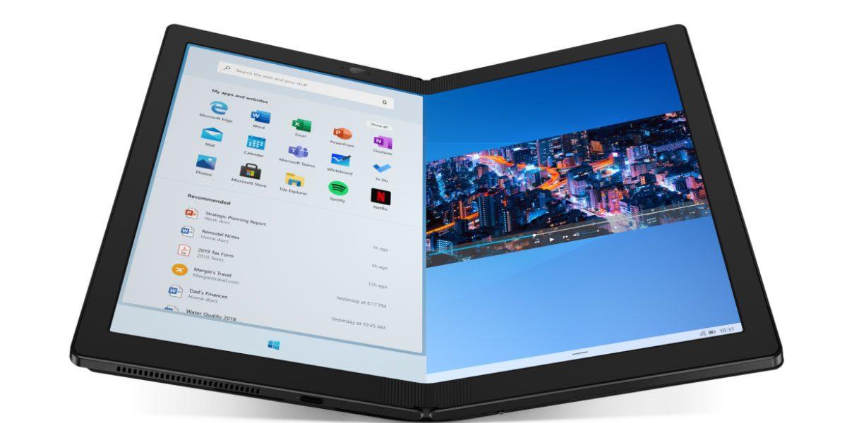 CES 2020 - Lenovo dévoile le premier PC avec écran pliable