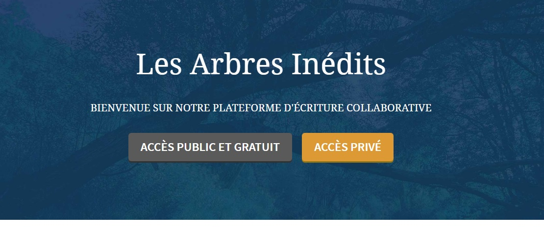 arbres inedits ecriture collaborative