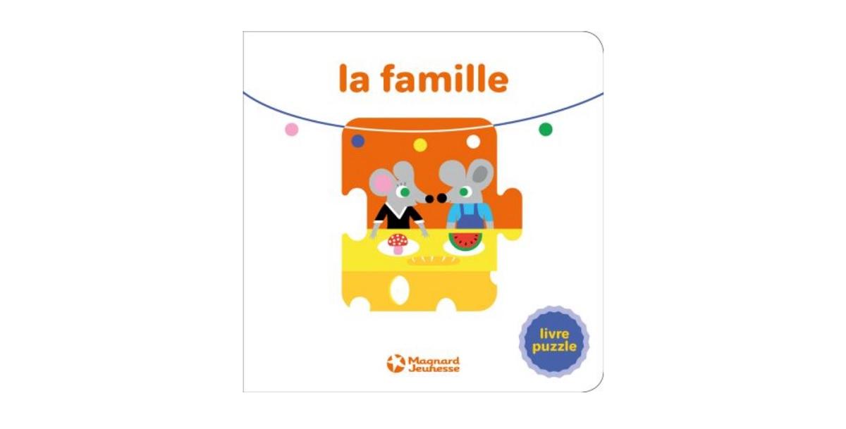 la famille livre puzzle enfants