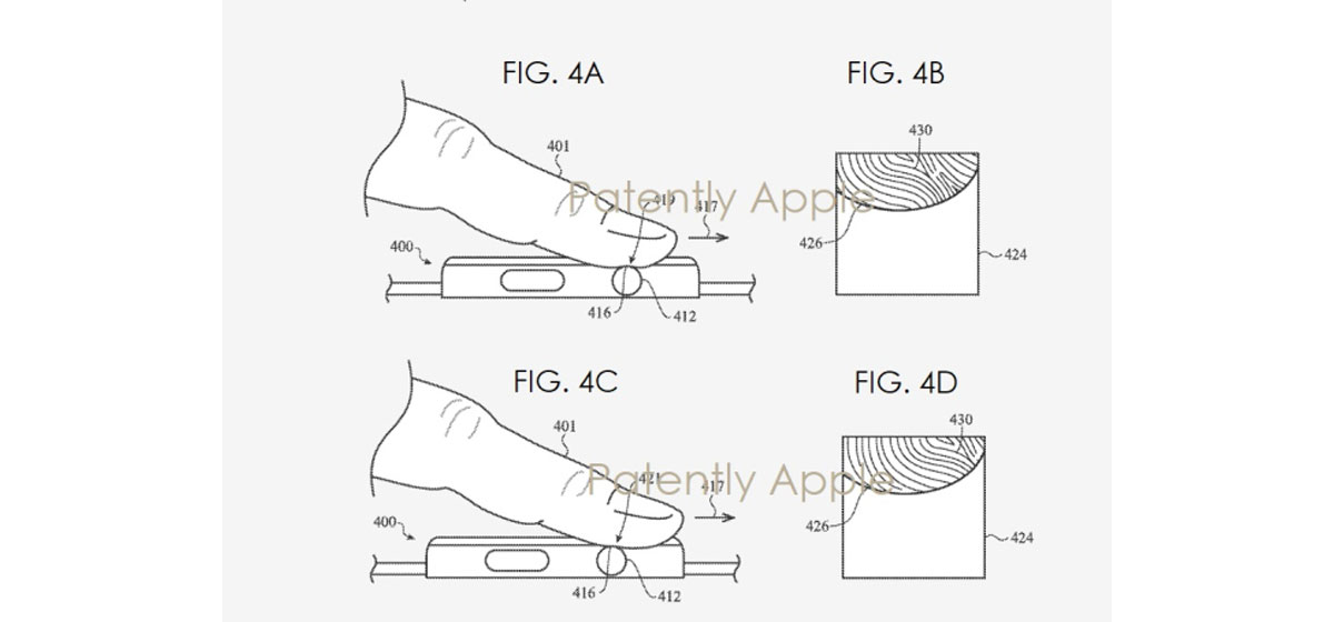 Apple Watch brevet avec touch ID