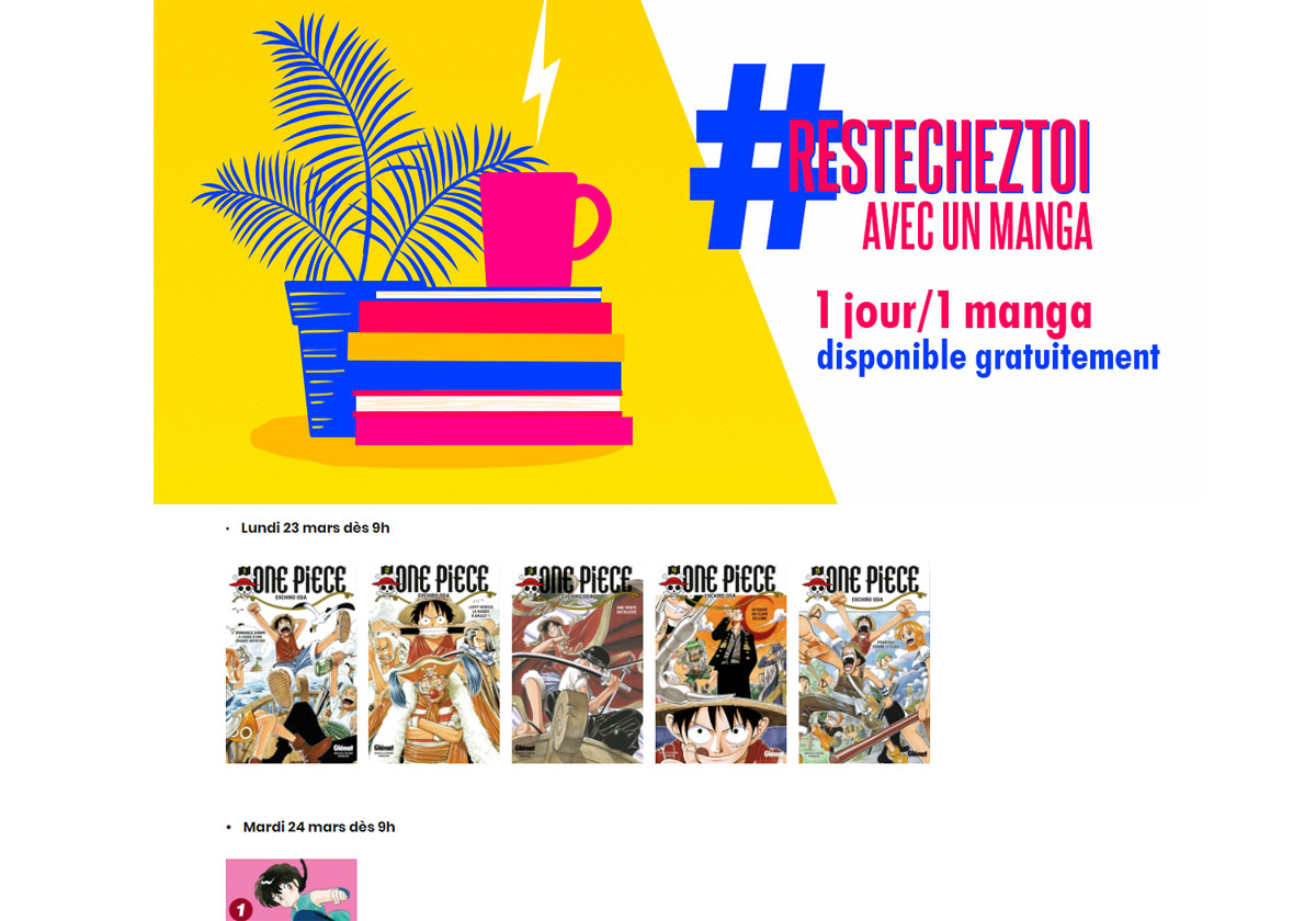 Confinement - Glénat offre un manga gratuit chaque jour